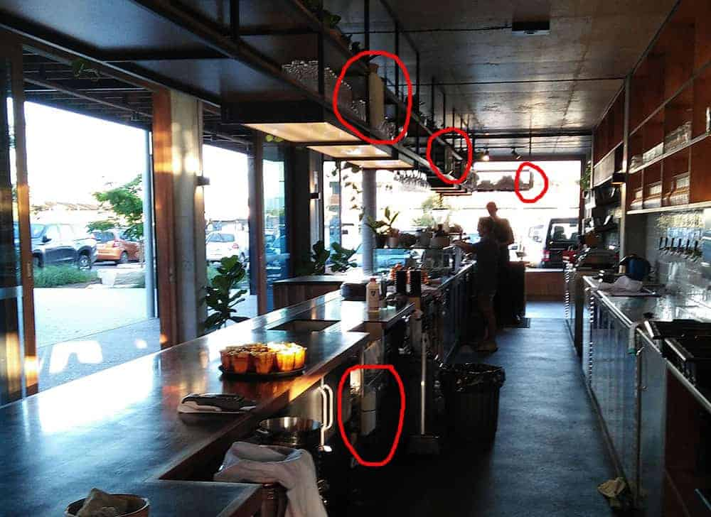 Insect Control Devices For Use In Restaurants