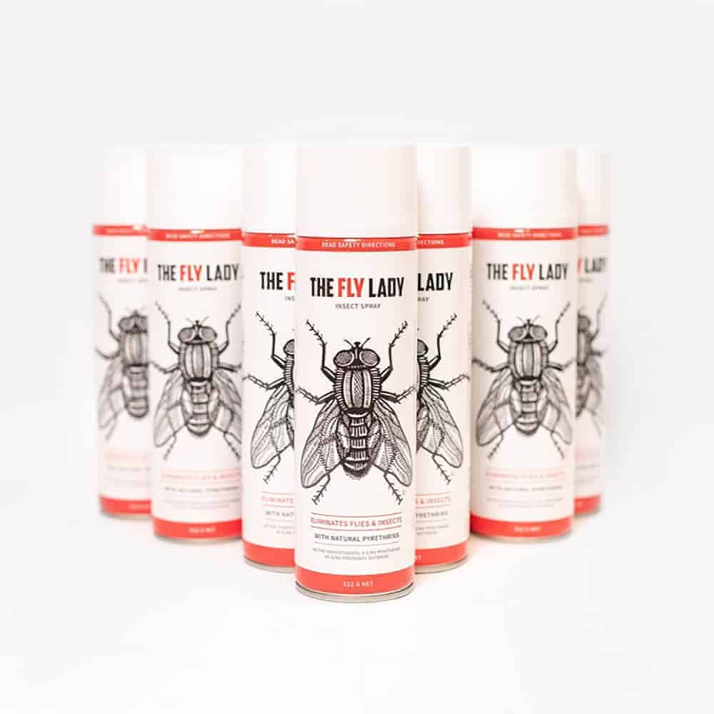 Insectashield fly control product with spray nozzle