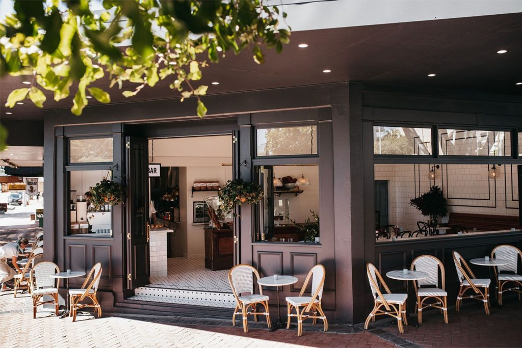 Fly Control for restaurants. Cafe with lots of open windows and doors