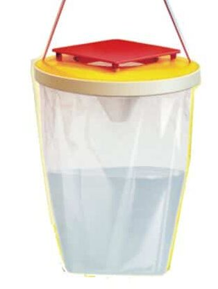 Disposable hanging fly bag trap